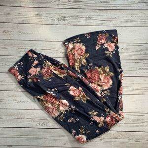 Floral drawstring lounge pants NWT